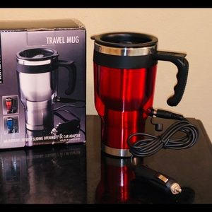 Red Heated Travel Mug w Car Adapter